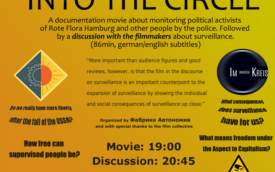 Into The Circle: Film screening and discussion with the authors