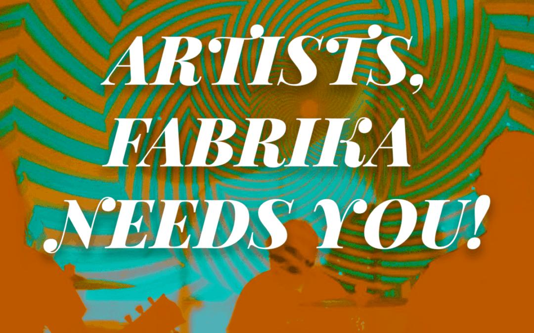 Артисти, Фабрика Автономия има нужда от вашата помощ!