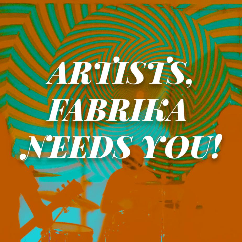 Artists, Fabrika Avtonomia needs your help!